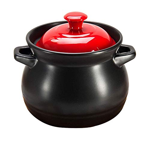 SHICCF Ceramic for Baking, Mini Casserole with Lid, Souffle Dish, Set of (Color : Red, Size : 3500ML)