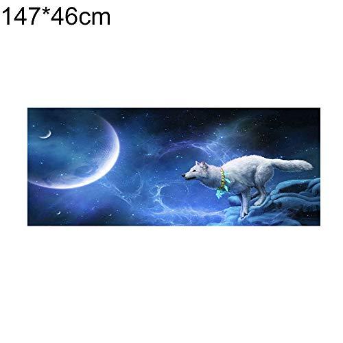 turkeybaby Heckscheibenaufkleber, Laufen Wolf Night Sky Auto SUV Heckscheibe Anti-Sun Decals Aufkleber Dekor 165x56cm