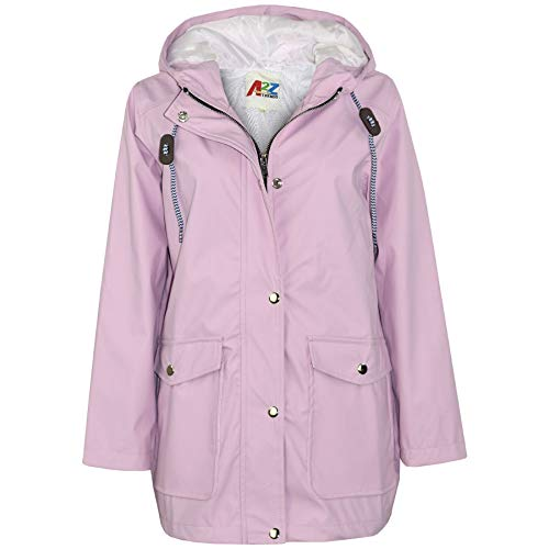 A2Z 4 Kids® Kinder Mädchen Jungen PU Regen Mantel Jacken Windbreaker - PU Raincoat 497 Lilac 9-10