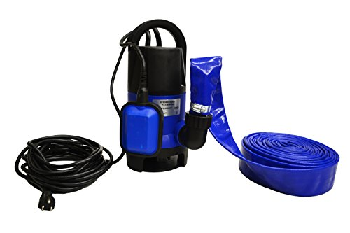 Submersible Drain Pump – 25 ft. Power Cord – 25 ft. Hose – Drain Up To 2,000 GPH