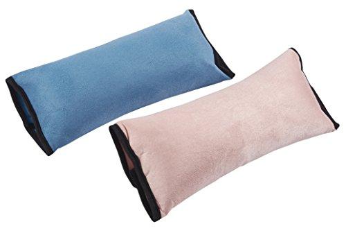 Juvale Stoelriemhoezen – 2-pack SeatBelt kussensloop Schouderkussen – Zitriemkussen voor kinderen en volwassenen – Roze en Blauw, 11 x 5 x 3 inch