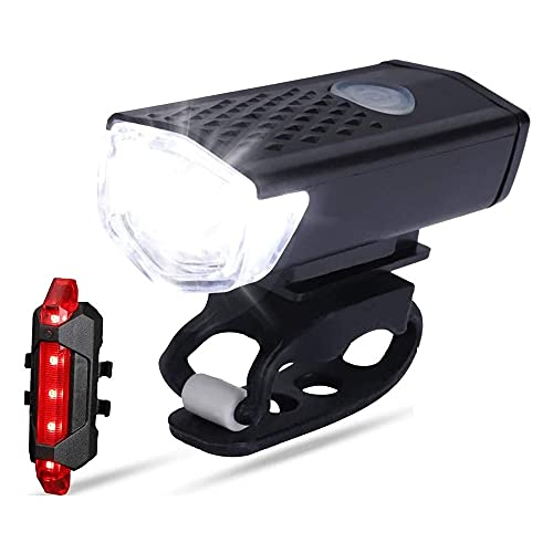 sdfkj Bike Light Rechargeable, LED Bicycle Light Front USB, 3 Light Mode, Super Bright Bicycle Light. Waterproof, Lightweight, Durable, Fits All Bicycles, Mountain,Road