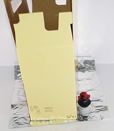 ZAMBONIN AGRICOLTURA Sacca in Alluminio per Alimenti LIQUIDI (Vino, Olio, ECC.) Completa di Rubinetto E Scatola di Cartone (5, 5 LT)