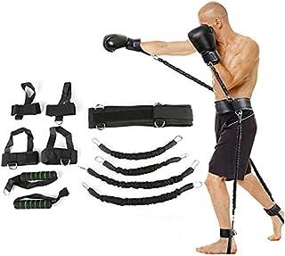 Studstränare fitness motstånd band boxningsdräkt latex rör spänning rep ben midja tränare, vikt: 36,3 kg lijiaxin