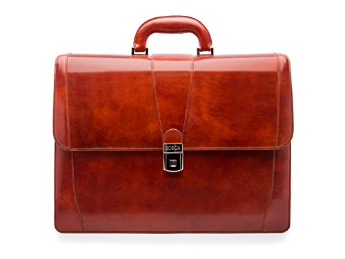 Bosca Old Leather Collection - Double Gusset Briefcase Cognac Leather One Size