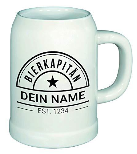 PHRASE 1 by FotoPremio Bierkrug mit Name und Biermotiv   0,5 Liter, Humpen aus Keramik mit Spruch, spülmaschinenfest   Geschenkidee für Bierliebhaber