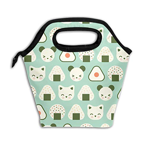 Lao Yang Mai Panda Bear Cat Cute Japanese Best Sushi School Lunch Containers Bag Pail Pack Accessories Tote Ice Cooler Insulated Reusable Box Hot Food Bento Warmer Prep Set Kit Decorations