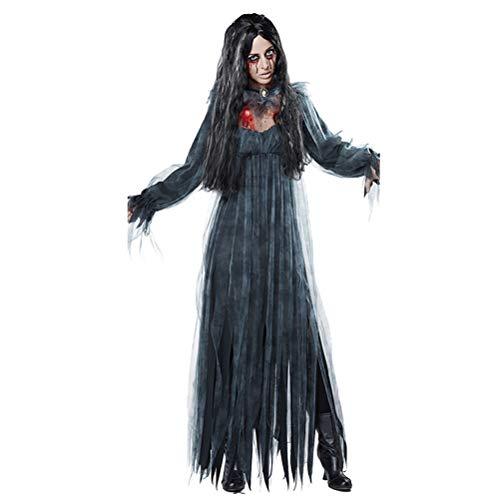 YPEZ Disfraz De Halloween para Mujer, Disfraz De Decoracin De Diablo De Terror, Tela Cmoda, Disfraz De Halloween para Varias Fiestas De Baile, Carnavales(Size:SG)
