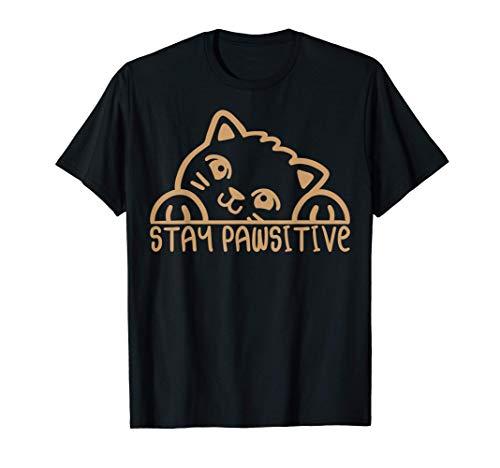 Boîte à litière Stay Positive pour chat T-Shirt