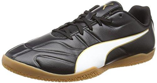 Puma Herren Classico C Ii Sala Fußballschuhe, Schwarz Black White-Gold 01, 42.5 EU