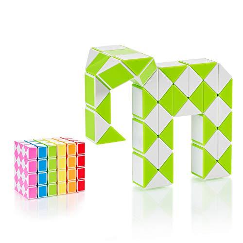 CUBIDI® Serpenta Magico con 48 Blocchi – 1 Pezzo – Puzzle per Bambini e Adulti – Fidget Toy – Costruzione di Oggetti Strani o Animali Giocattolo per B