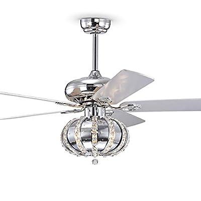 Crystal Ceiling Fan Light Fixture Fandelier 52&...