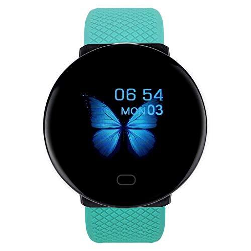 HUANGGUA D19 BT4.0 Smart Watch Sport Smart Armbanduhr Bluetooth Smartwatch mit Schlafüberwachung Anrufmeldung Erinnerung Anti Lost Fitness Tracker Wasserdichtes Armband