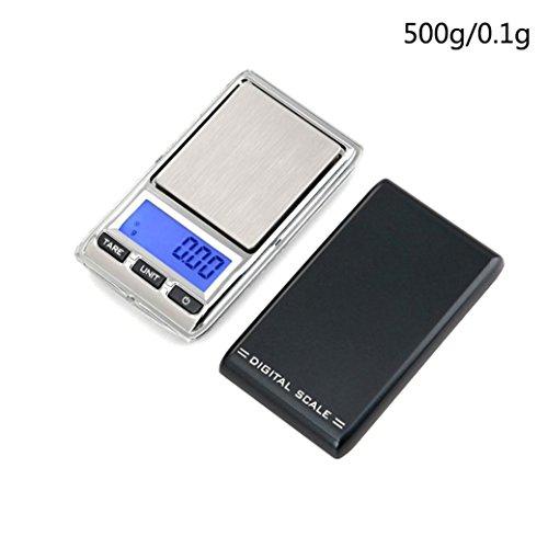 STRIR Báscula de Bolsillo, Mini Báscula Profesional Digital Electrónica de Joyería de la Escala Bolsillo Escala Balanza de Precisión (500g/0.1g)