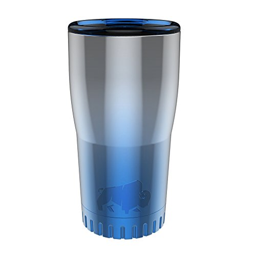 Silver Buffalo NL111095 Ombrà Double Walled Stainless Steel Travel Tumbler, 20-Ounces, Blue