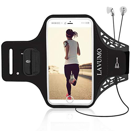 Sportarmband Handy für iPhone X XS XR XS Max 7 Plus 8 Plus Huawei P8 lite P10 Plus P20 P30 Lite P30 Pro LG G6 Samsung S6 S7 S8 S9 Plus Sport Handytasche für Joggen Laufen Mit Schlüssel Karten Halter