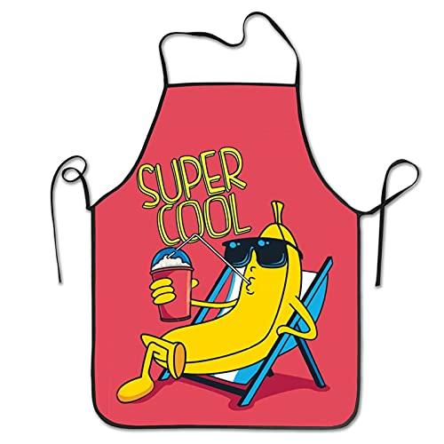 Delantal Cocina Gafas De Sol Fruit Cool Male Banana Beber Delantal Personalizado Artística Delantal Infantil Divertidos Delantal De Pintura