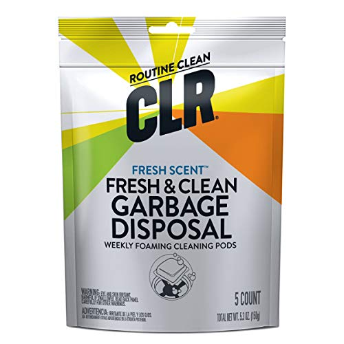 CLR Fresh & Clean Garbage Disposal, Fresh Scent Weekly Foaming Cleaning Pods, 5 Pods