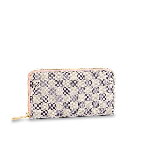 Louis Vuitton Zippy Wallet Damier Azur Canvas (Rose Ballerine)
