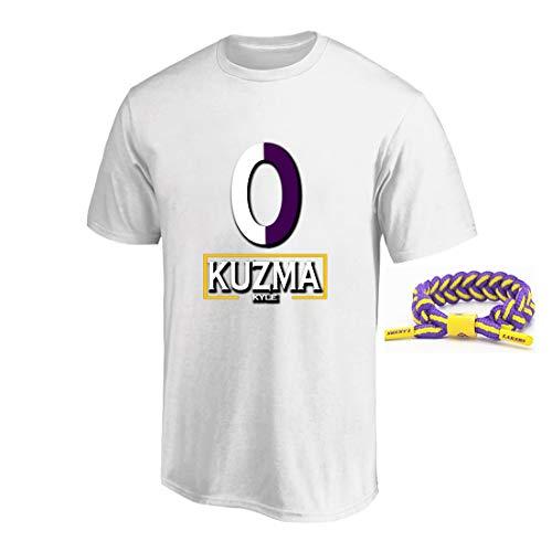 YUUY Manga Corta con Estampado Casual de Hombre Kyle Kuzma # 0 Lakers Camiseta de Secado rápido Uniforme de Baloncesto elástica Camiseta de Gimnasio Talla S-XXXL (Color : White, Size : XX-Large)