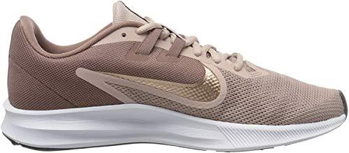 Nike Mädchen Downshifter 9 Laufschuhe, Smokey Mauve MTLC Red Bronze Stone Mauve Black, 35.5 EU