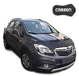 Protezione Cofano Mokka CARBON Copertura Cofano Car Bra Auto NERO Front Maschera Bonnet Tuning