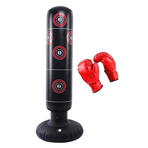 Zcyg Boxsack,Standboxsack, Starke große aufblasbare Standboxsäcke Turm Stress-Durchschlags-Boxen Spaß Workout Tasche Anti-Leck auf Wasserbasis mit Boxhandschuhen, leicht aufzublasen In Minutes