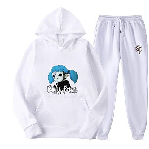HHKLSF Sudadera con Capucha con Estampado De Anime Suéter con Capucha Informal Conjunto De Primavera Y Otoño, Blanco 1, M