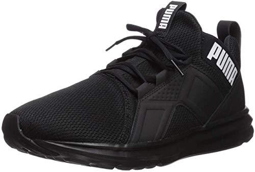 PUMA Men's ENZO Sneaker, Black Black, 7 M US