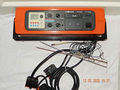 VIESSMANN Trimatik 7410 068-K Heizungsregelgerät mit Digitalschaltuhr Kesselfühler und Kabel mit Adapter, geprüft, ist funktionsfähig, in TOP Zustand