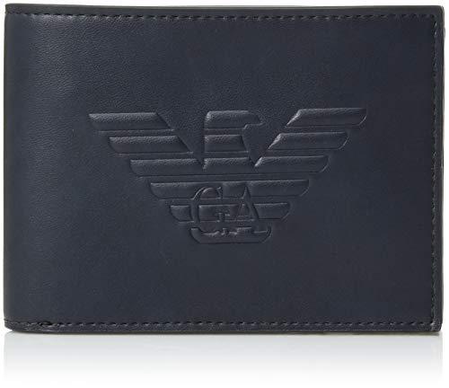 Emporio Armani Herren Geldbörse Geldtasche Geldbeutel Bifold blu