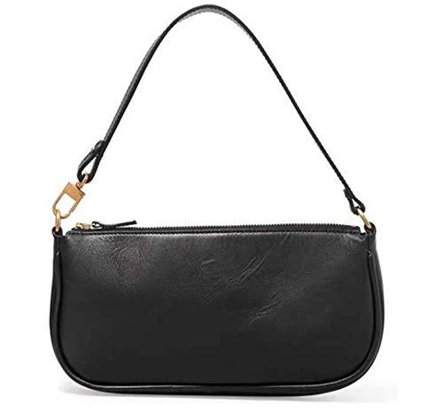 Damen Schultertasche Krokodilmuster Leder Unterarm-Paket Frauen Clutch Bag, Retro Krokoprägung Schultertasche Handtaschen (E, 28.5 * 4 * 13.5cm)