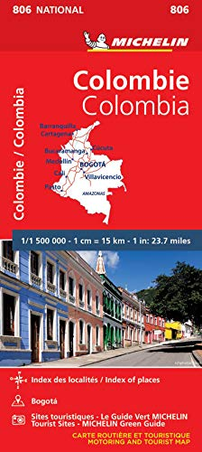 COLOMBIE / COLOMBIA 11806 CARTE ' NATIONAL ' MICHELIN KAART