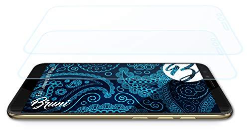Bruni Schutzfolie kompatibel mit Lenovo K5 Play Folie, glasklare Bildschirmschutzfolie (2X)