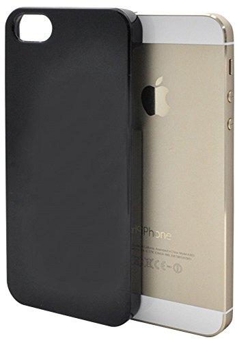 PLATA iPhone5 iPhone5s iPhoneSE スマホケース ハードケース 【 ブラック 】 シンプル 無地 保護 ハード 背面 背面型 バックケース