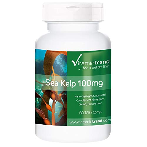 Kelp 100mg – Fucus vesiculosus – Vegano – Suplemento de yodo natural – 180 comprimidos