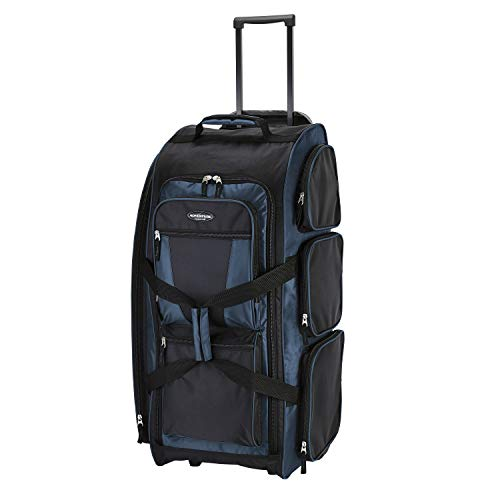 Travelers Club 30' Xpedition Upright Rolling Travel Duffel Bag, Crimson Rivera Blue , Large