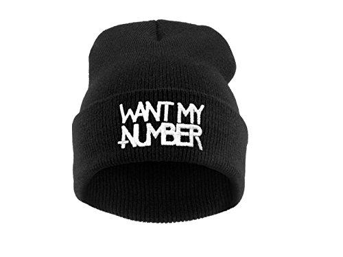 Beanie hat Bonnet Fashion Jersay Oversize Bad Hair Day Bastard Diamond Want My Number