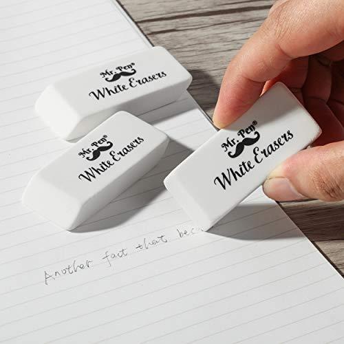 Mr. Pen- Erasers, Pencil Eraser, 12 Pack, White Erasers, Eraser, Erasers for Drawing, Eraser Pencil, Pencil Erasers, Erasers for Kids, Art Erasers for Drawing, Artist Eraser, White Eraser, Art Eraser Photo #3