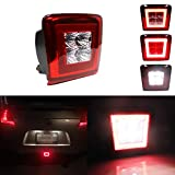 Miniclue Red Clear Lens Full LED Rear Bumper Fog Light Compatible with 2009-2019 370Z, For 2013-2017 Juke Nismo