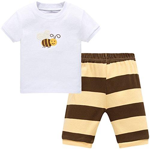 Hugbug Mädchen Schlafanzug Kurz mit Bienen 1 Jahre