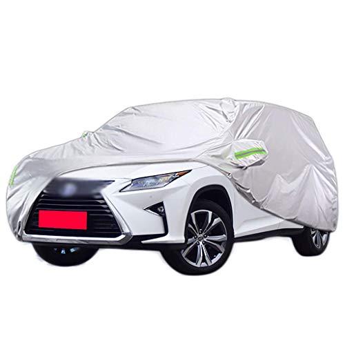 Carohome Autozeilen Car-Cover - SUV toegewijd - waterdicht zon UV regen sneeuw autobescherming - Oxford doek auto mantel met riem en reflecterende Lexus RX300 RX450h RX200t GX400 GX460 2016 Lexus RX450h