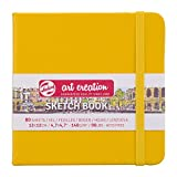 Cuaderno de bocetos Royal Talens Art Creation - Cuaderno de bocetos (80 hojas, 140 g/m², 12 x 12 cm), color amarillo dorado