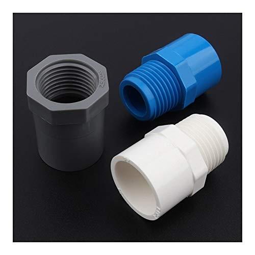 Conexión de reparación de jardín 5pcs 32mm ~ 1' Sistema de riego Mujer/Rosca macho de PVC Conector Jardín Tubería de agua de grifo de la cocina Conectores Accesorios articulaciones
