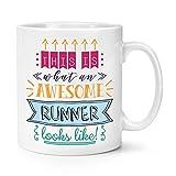 This is what an Awesome runner looks like 284ml Mug Fun Best marathon