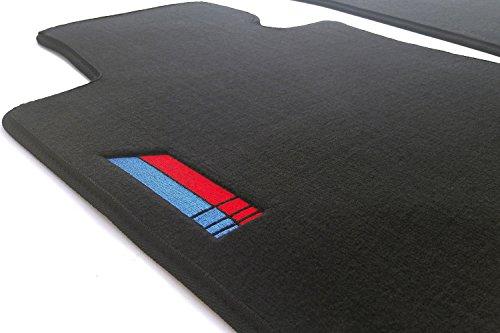 kh Teile Fussmatten E87 E81 M1 Edition Sport Velours Automatten (Bestickt) Autoteppich Schwarz 2-teilig