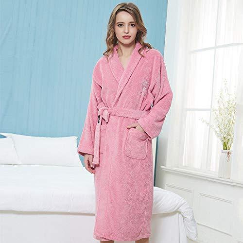 YUYAXPB Luxe badjas van katoen met verstelbare riem