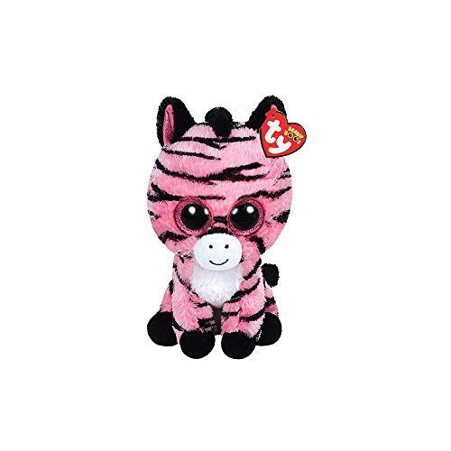 Claire's Accessories Ty Beanie Boos Plush Zoey the Pink Zebra - 6 1/2 Small by Claire's