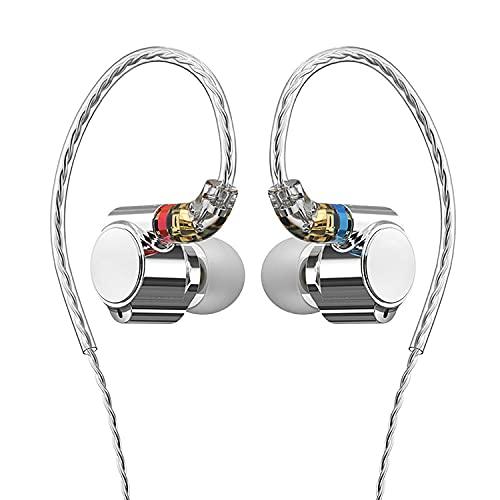 Earbuds Auriculares con Micrófono, Auriculares Internos con Cable con Cable Que No Se Enreda, Auriculares Rock Bass, Enchufe Universal De 3,5 Mm, Adecuado para Ingenieros De Audio, Músicos