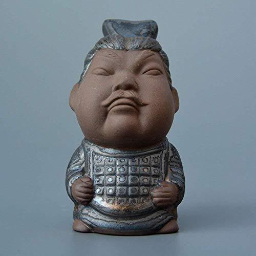 BMYLSYX Kamelien Tee Schmuck Tourismus Produkte Qin Shi Huang Terrakotta Krieger Und Pferde Serie Alten Zeichen Tee Theater Keramik Kunst Dekorationen C5.7 * 6.5 * 10.3Cm,B,1